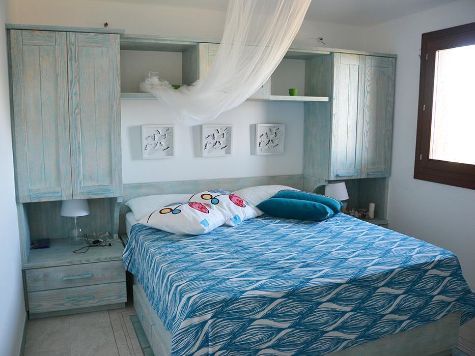 camere da letto con mobile ponte in legno