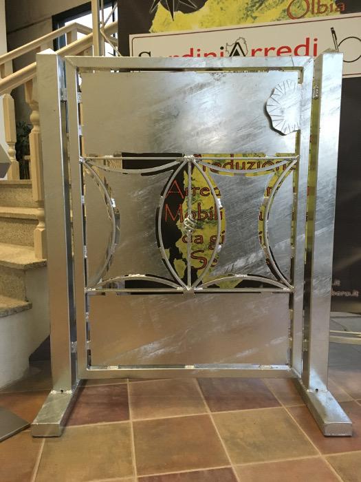cancello in ferro battuto argento