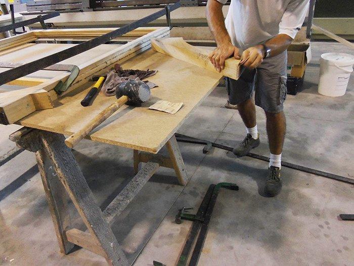 mobili su misura in legno Olbia