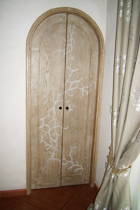 Porta cabina in legno
