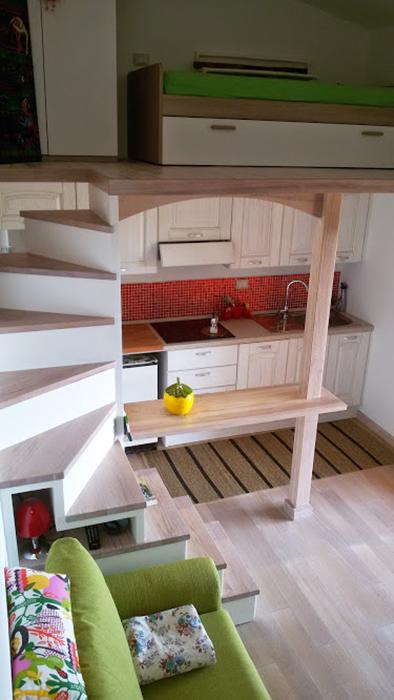 scala soppalco in legno