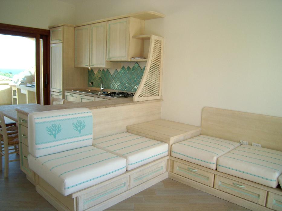 soggiorno living in legno