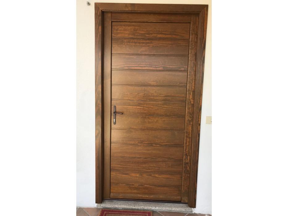 porta ingresso in legno massello